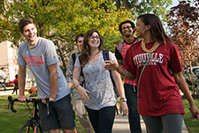 freshmen students walking on prospect avenue