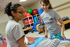 Physical Therapy students in a lab