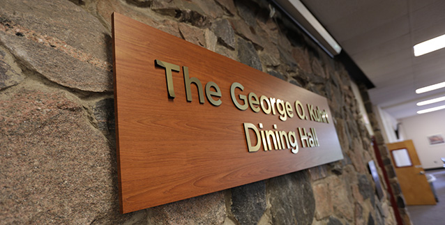 Dining hall sign