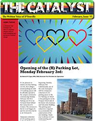 Catalyst D'Youville College student run newspaper February 2014