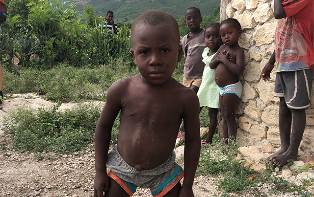 A child in Haiti.