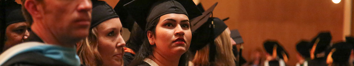 Students take part in graduation ceremonies at D'Youville College.