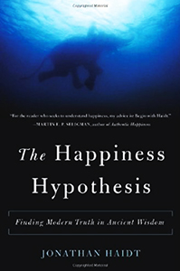 Book cover of The Happiness Hypothesis.