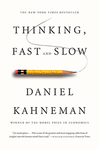 Book cover of Thinking Fast and Slow.