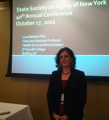 Lisa Rafalson at State Society on Aging of New York conference