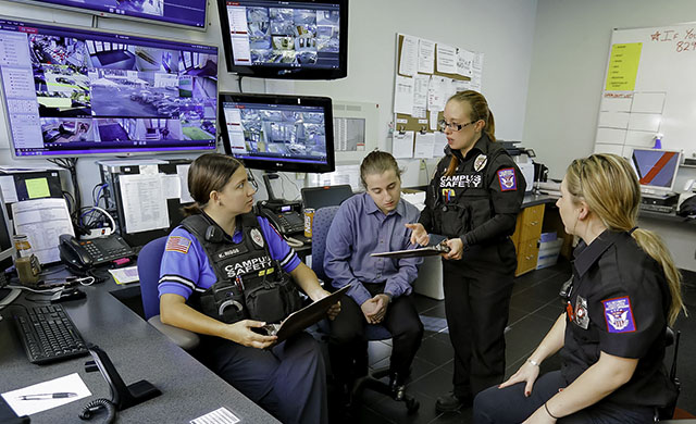 D'Youville's Campus Safety base of communications