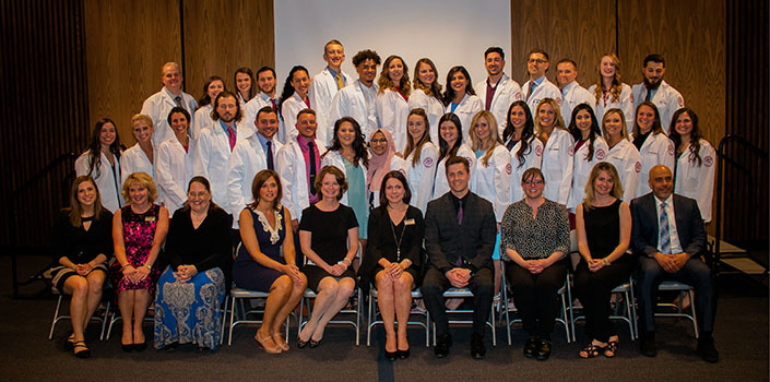 The Class of 2019 Physician Assistant White Coat ceremony.