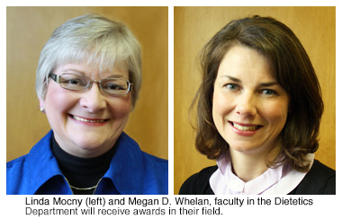 Two Dietetics Faculty Receive Awards