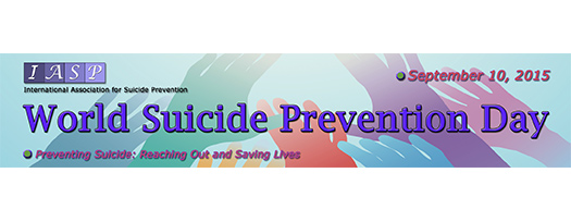Reaching Out and Saving Lives is the theme of the World Suicide Prevention Day on Sept 10