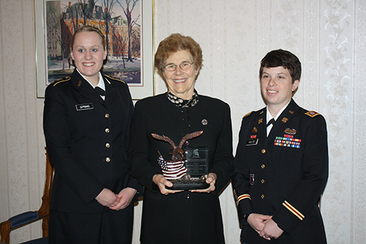 Sister Denise is Inaugural Recipient of the Captain Eleanor Alexander Award