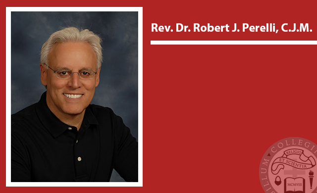 Photo: A portrait photo of Rev. Dr. Robert J. Perelli, CJM