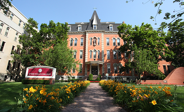 Photo: D'Youville College campus in summer