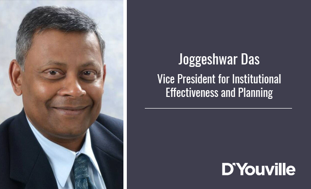 D'Youville Hires Joggeshwar Das as Vice President for Institutional Effectiveness and Planning