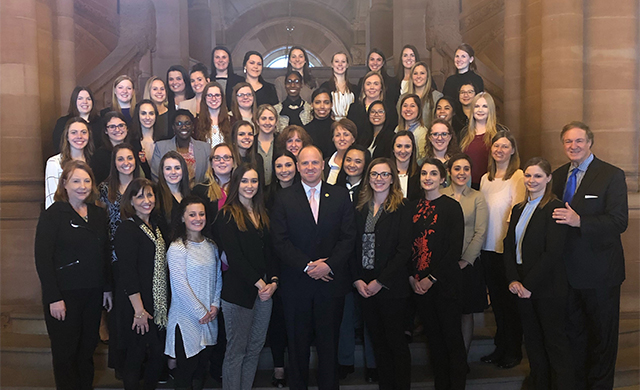 Students and Faculty Travel to Albany for OT Advocacy