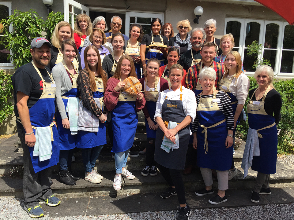 The group pictured outside the Ballymaloe Cookery School.