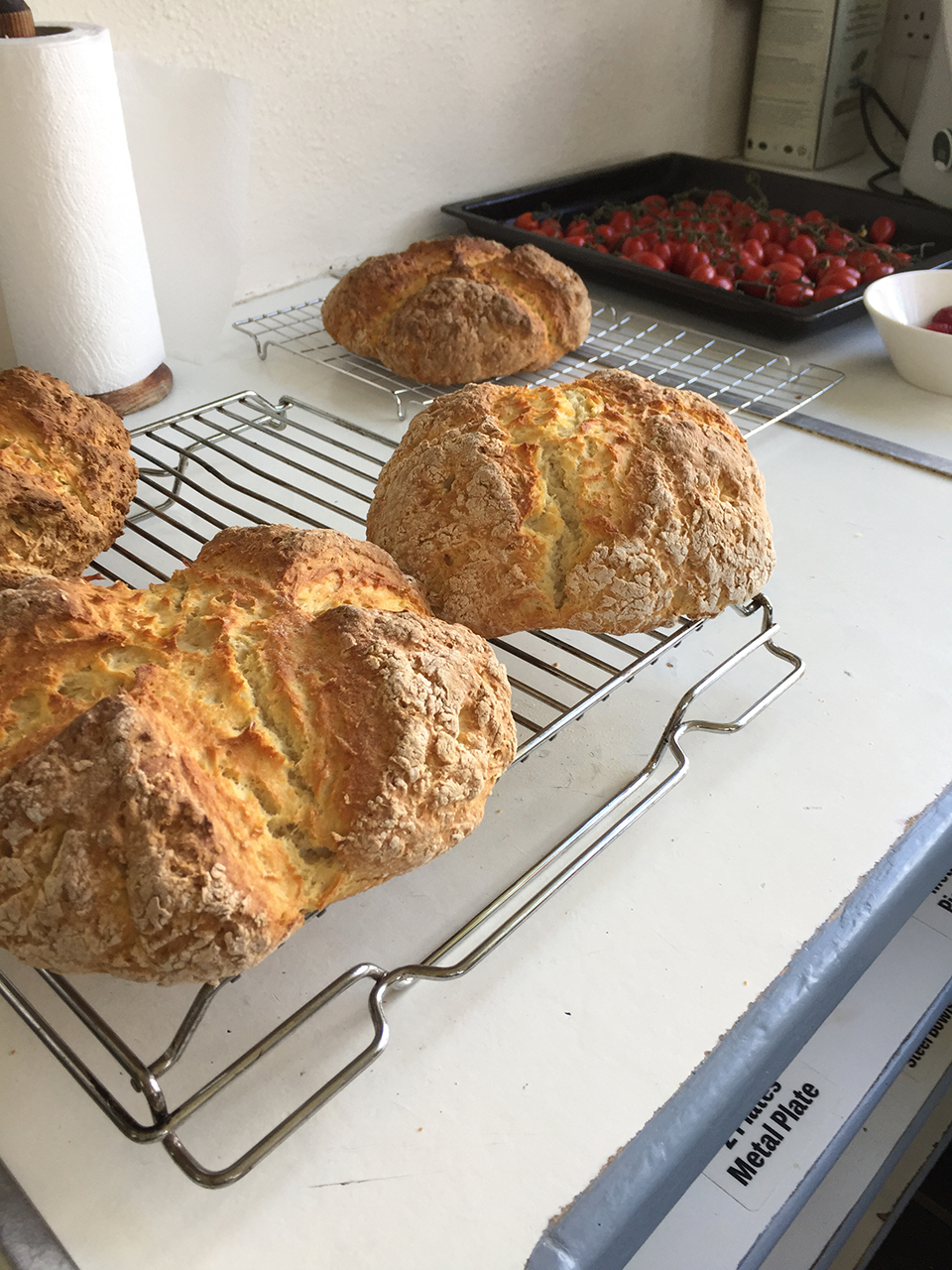 Traditional soda bread prepared by the group.