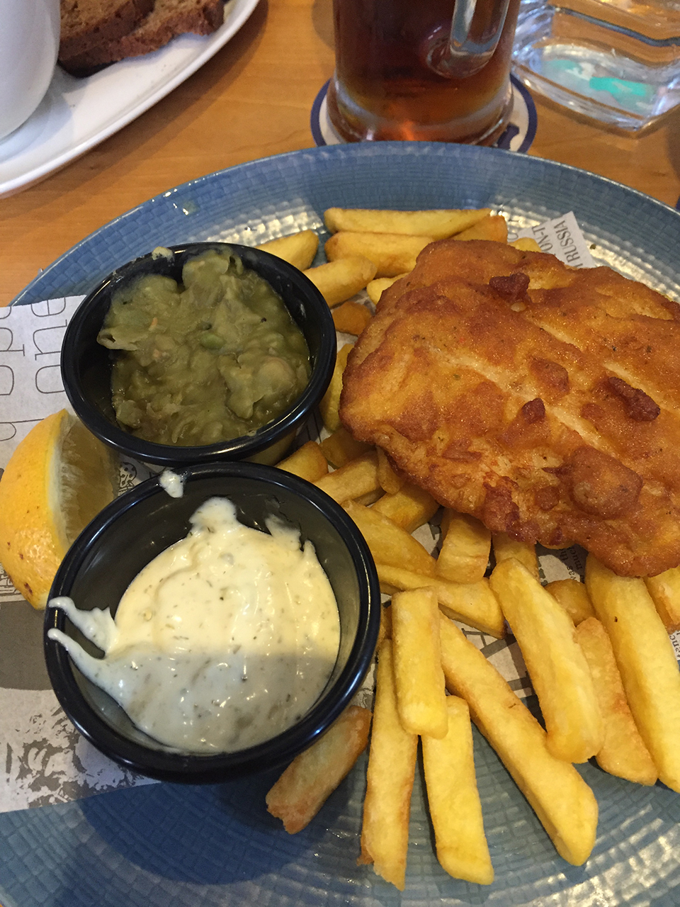 Fish and chips in Cobh, a town located east of Cork.