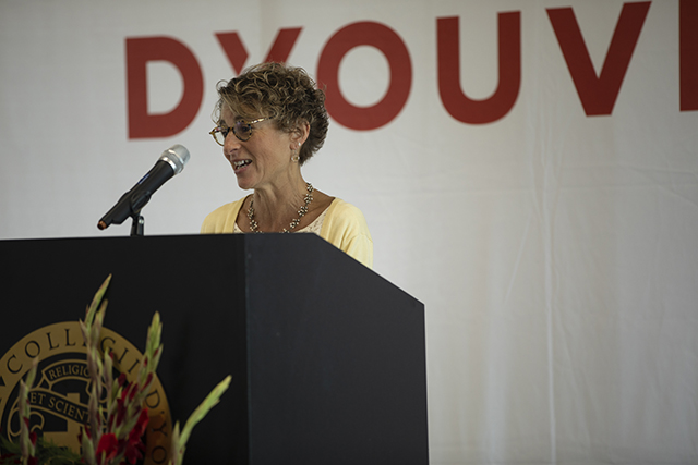 Erie County Health Commissioner Gale Burstein at D'Youville