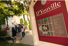 Photo: A D'Youville map on campus