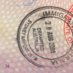 Photo: Passport immigration stamp, ver. 2