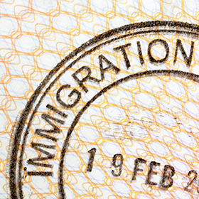 Photo: Passport immigration stamp