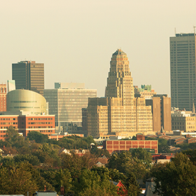 The Buffalo skyline.