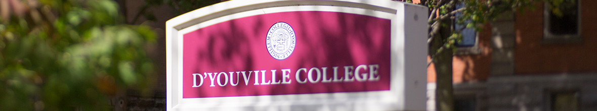 D'Youville College sign