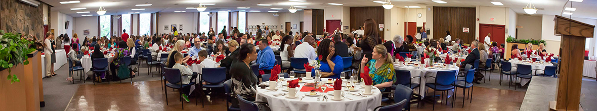 Alumni association lunch for D'Youville graduating students