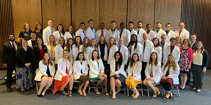 The PA class of 2020 white coat ceremony.