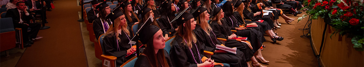 Students at the 2019 commencement ceremony.