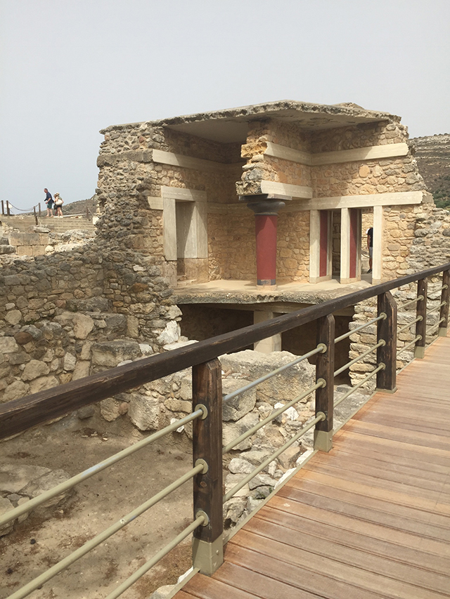 Crete is home to many historical sites including the Minoan Palace in Knossos. The Palace of Knossos became the ceremonial and political center of the Minoan civilization. The site has been reconstructed to demonstrate building design and palace layout.