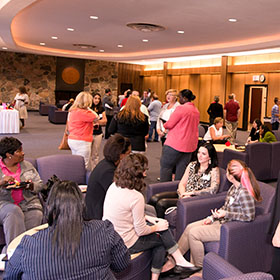 An event held in D'Youville's Blue Lounge